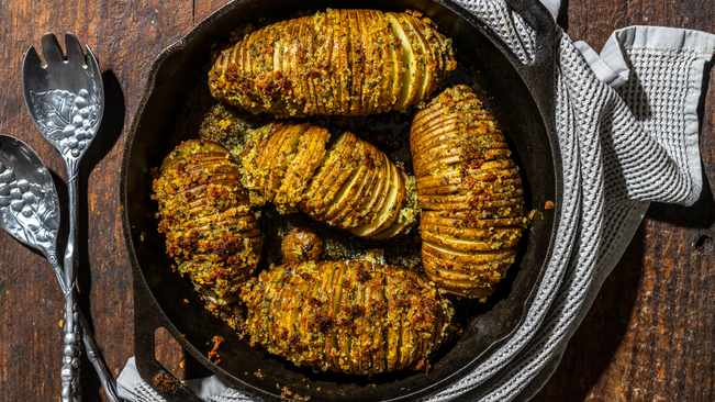 Recipe: Hasselback Potatoes photo