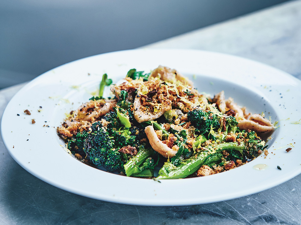 Cook This: Purple Sprouting Broccoli With Spelt Orecchiette From Eating For Pleasure, People And Planet photo