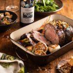 Fire-roasted Springbok Leg, Braised Kale and Honey Roasted Parsnips photo