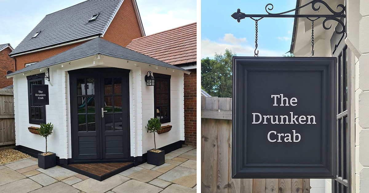 This Family's Tiny Garden Pub Looks Just Like A Real Bar Inside photo