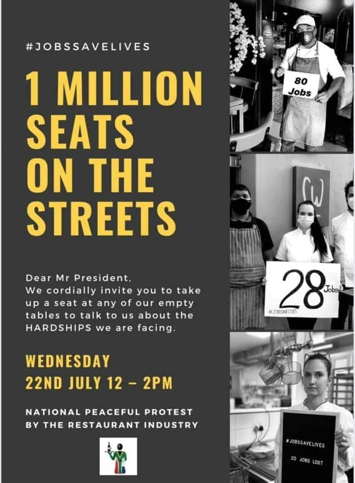 """#SupportLocal Restaurants By Joining The """"Million Seats on the Streets"""" Protest on Wednesday, 22 July photo"""