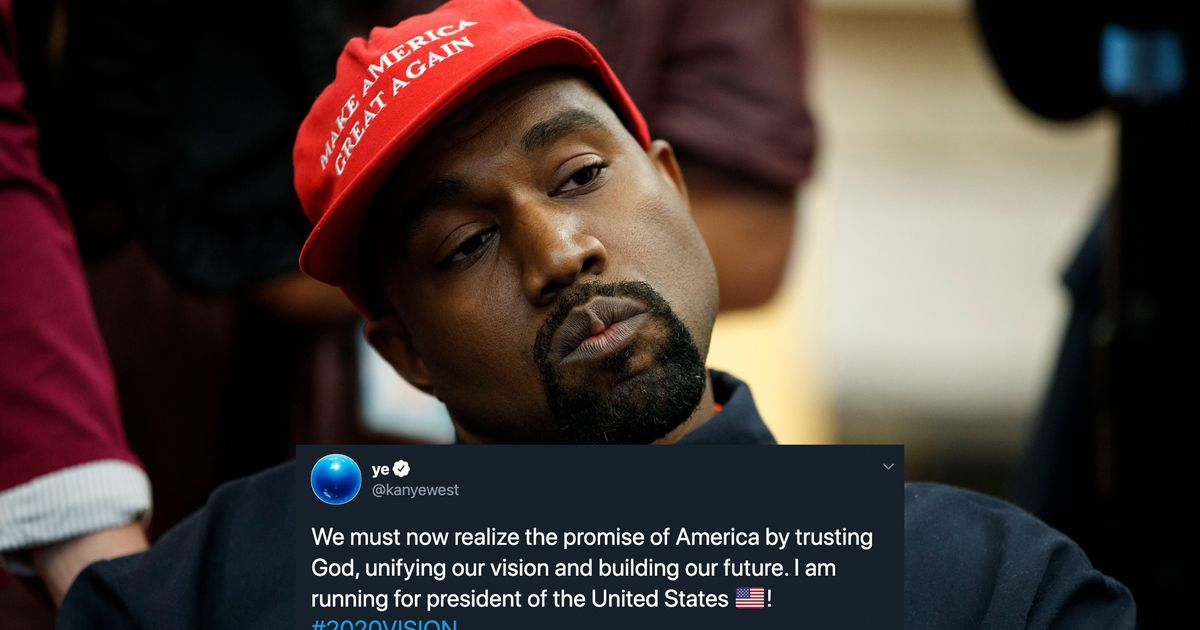 Kanye West Claims He's Running For President And Elon Musk Is Playing Along photo