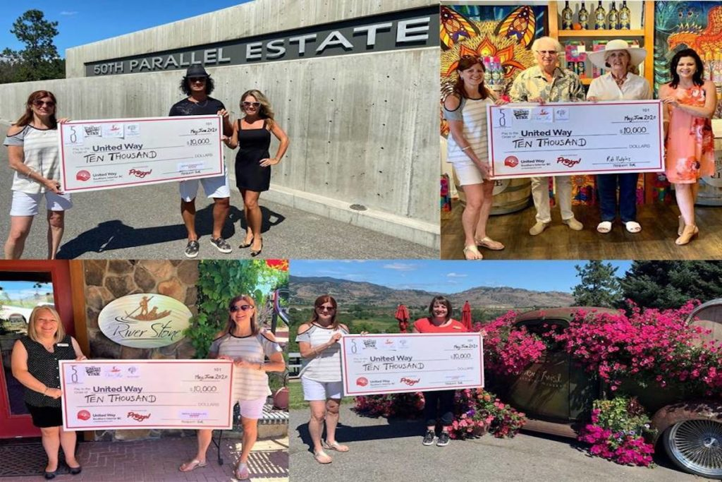 Okanagan Wineries Donate $10,000 To Kelowna United Way's Covid-19 Relief Fund photo