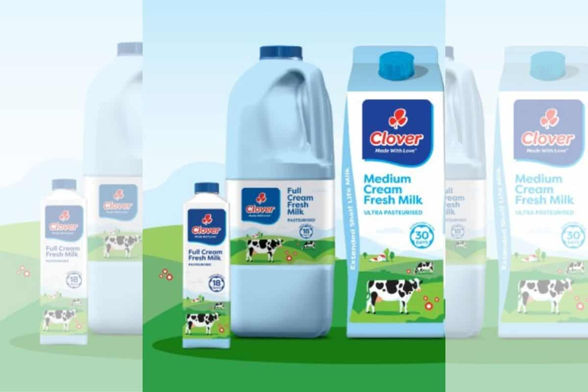 Clover Introduces Blue Milk Bottles 'to Make Fresh Milk Relevant Again' photo