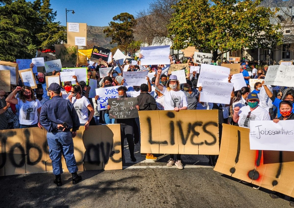 #jobssavelives: Franschhoek March Against Restaurant Restrictions photo