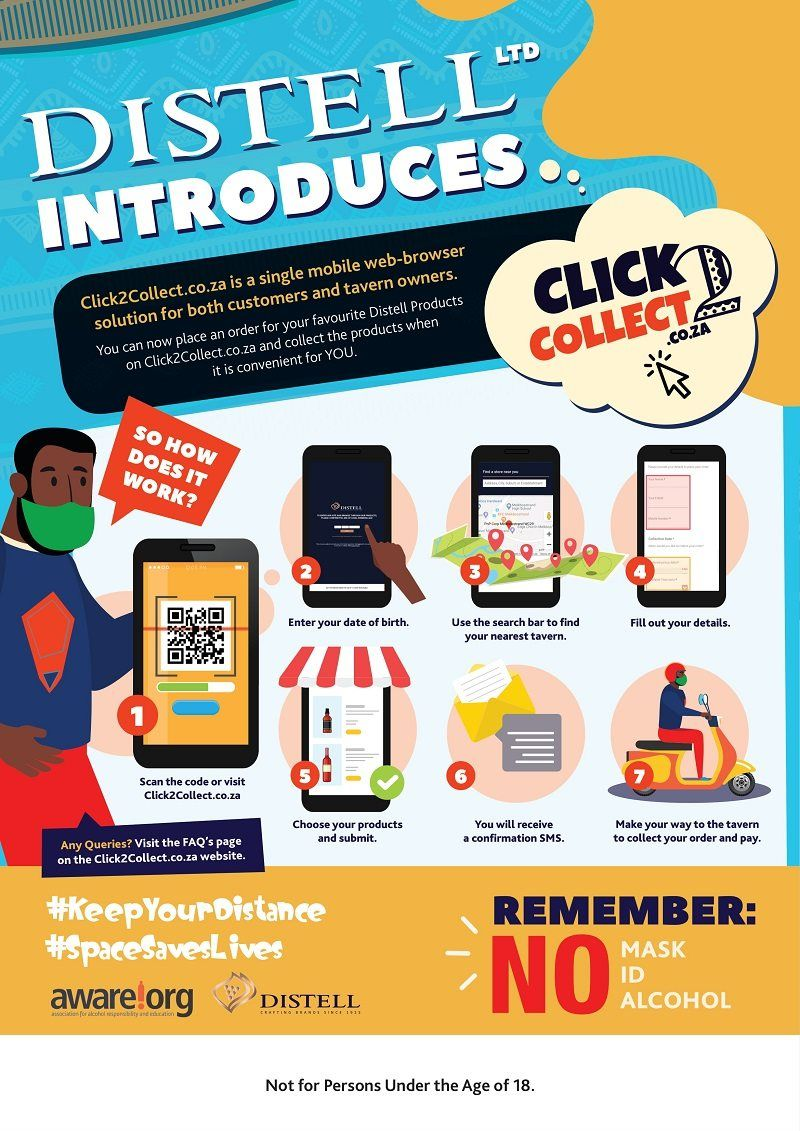 Distell's New Click2collect Platform Simplifies Drinks Shopping At Taverns photo