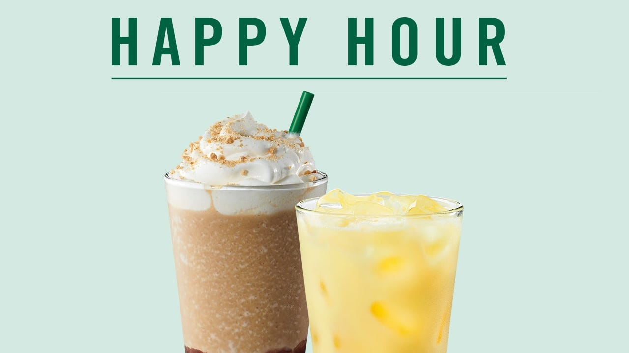Starbucks' Buy-one-get-one Deal Returns Thursday. Here's How To Get A Free Drink During Happy Hour. photo