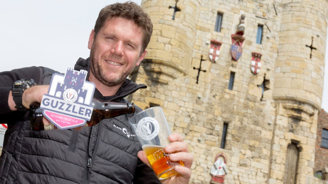 York Brewery Showcases Iconic York Imagery In An Update To Its Flagship Cask Ale Brand, Guzzler photo