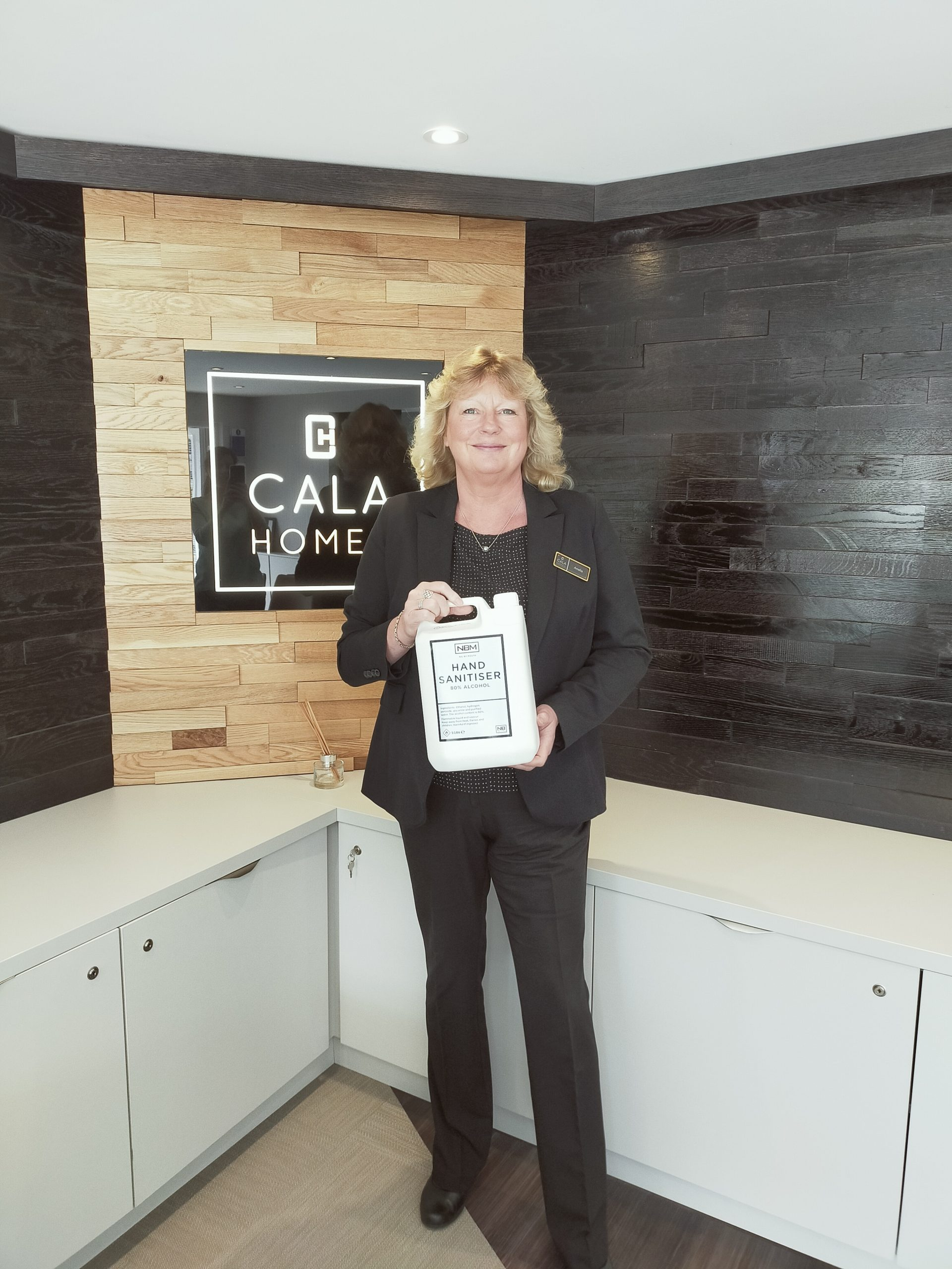 Sanitiser Purchase Is Just The Tonic For Cala Homes photo