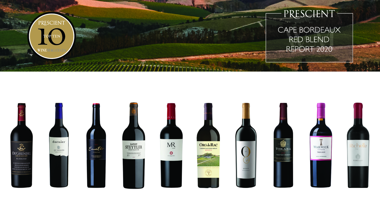 Prescient Cape Bordeaux Red Blend Report 2020 now live – plenty of fruit power in evidence photo