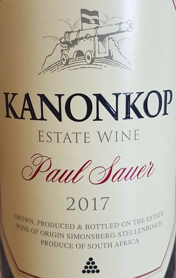Kanonkop Paul Sauer 2017 photo