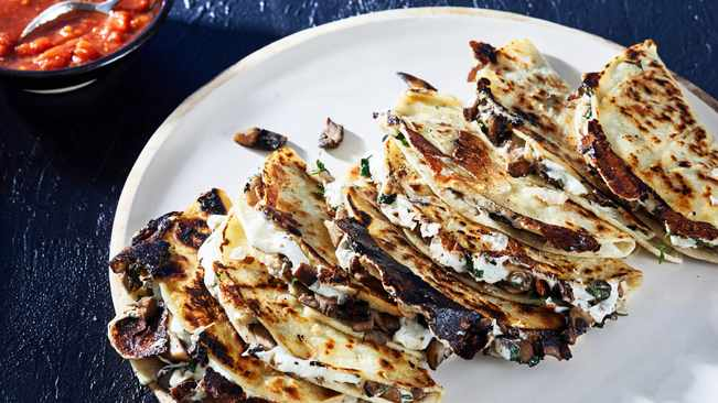 Recipe: Mushroom Quesadillas photo