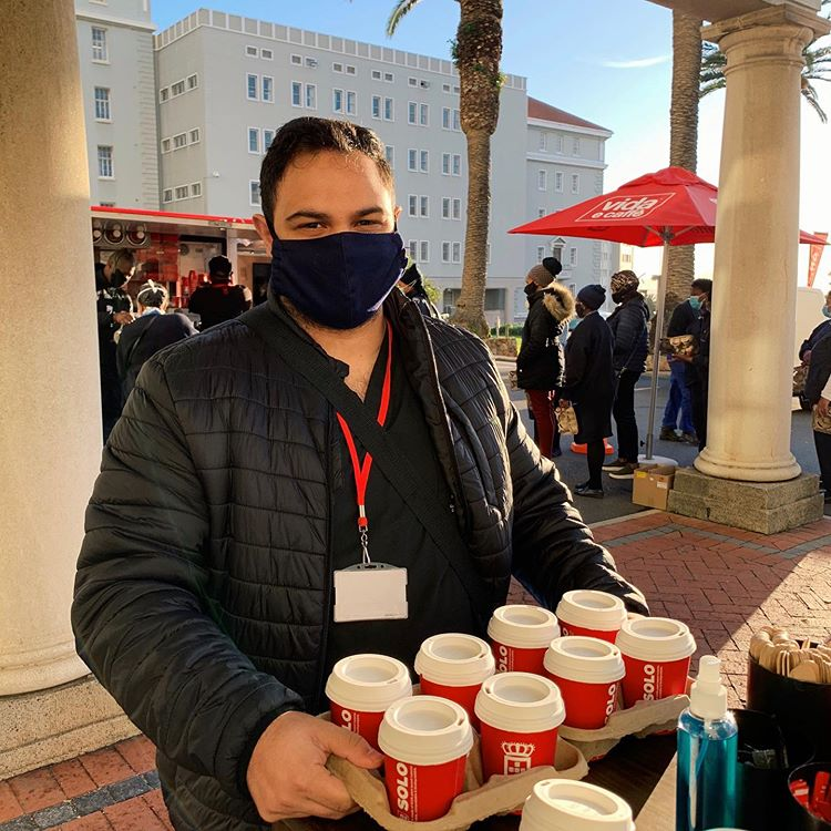 Vida E Caffè Baristas Deliver A Special Treat To The Staff Of Cape Town's Largest Hospital photo