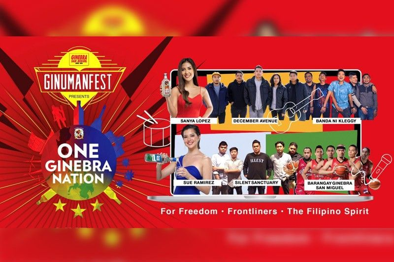 Ginebra San Miguel Unites Over 300,000 Filipinos In First Ginumanfest Live Online Concert photo