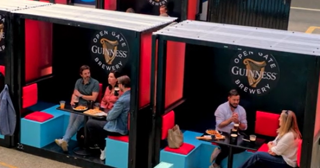 Guinness Open Gate Brewery Has Opened A New Beer Garden With Food Served To Outdoor Snugs photo