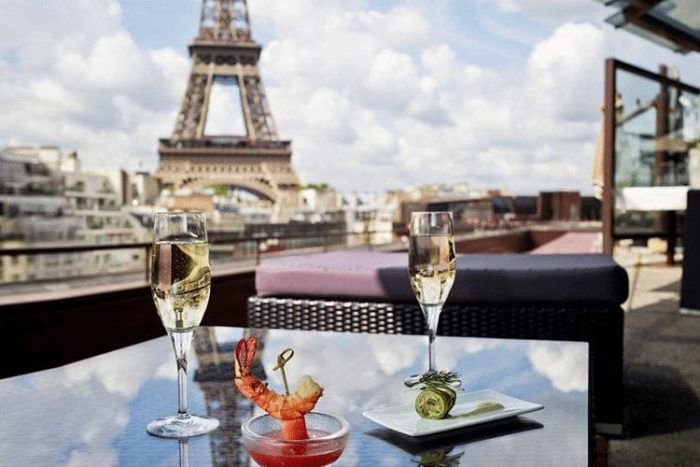 honeymoon paris eiffel tower views les ombres restaurant 700x467 The Worlds Most Expensive Places To Get A Drink
