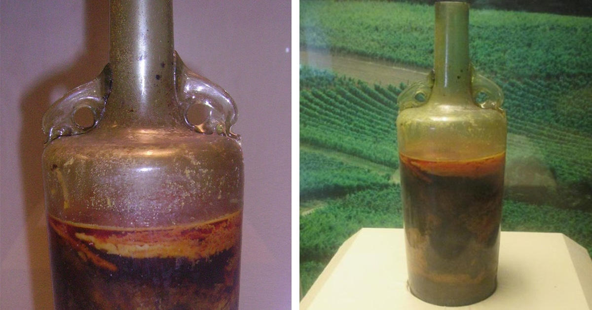 World's Oldest Bottle Of Wine Remains Unopened Since The 4th Century photo