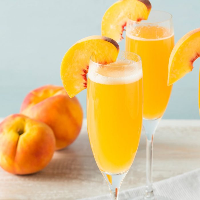 prosecco peach bellini cocktail square 700x700 10 Light Cocktails To Serve At Your College Party