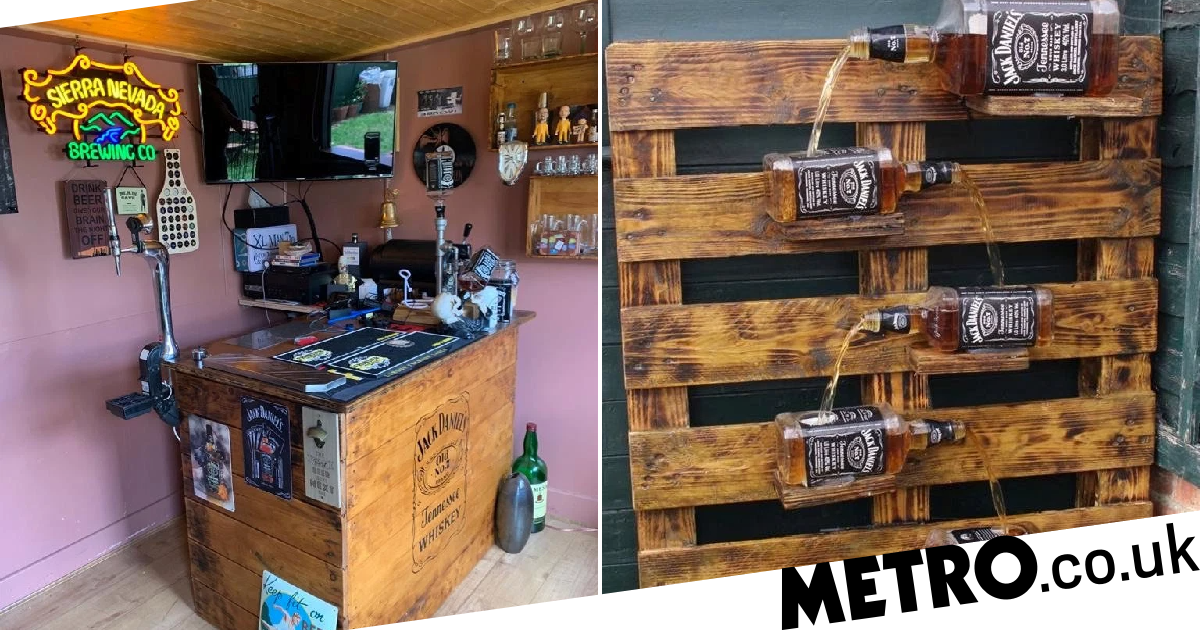 Man Missing The Pub In Lockdown Decides To Build His Own In His Back Garden photo