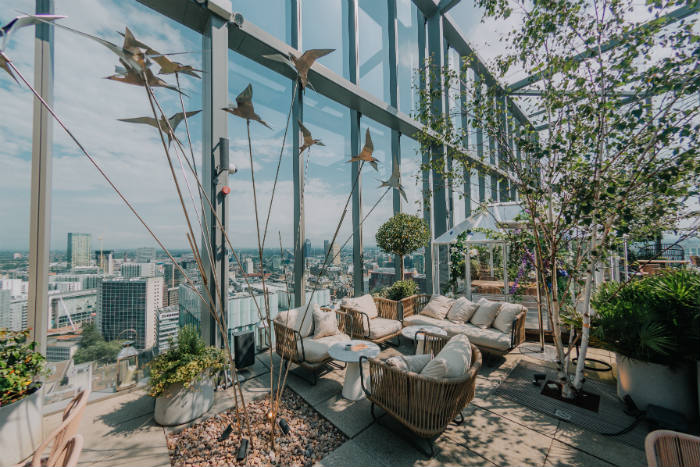 20 Stories Has Launched A Beautiful Garden-themed Summer Terrace photo