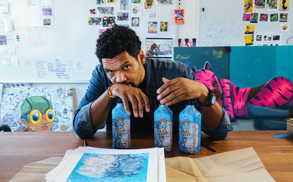 Artist Hebru Brantley Collabs With Bombay Sapphire To Support Black Lives Matter Chicago photo