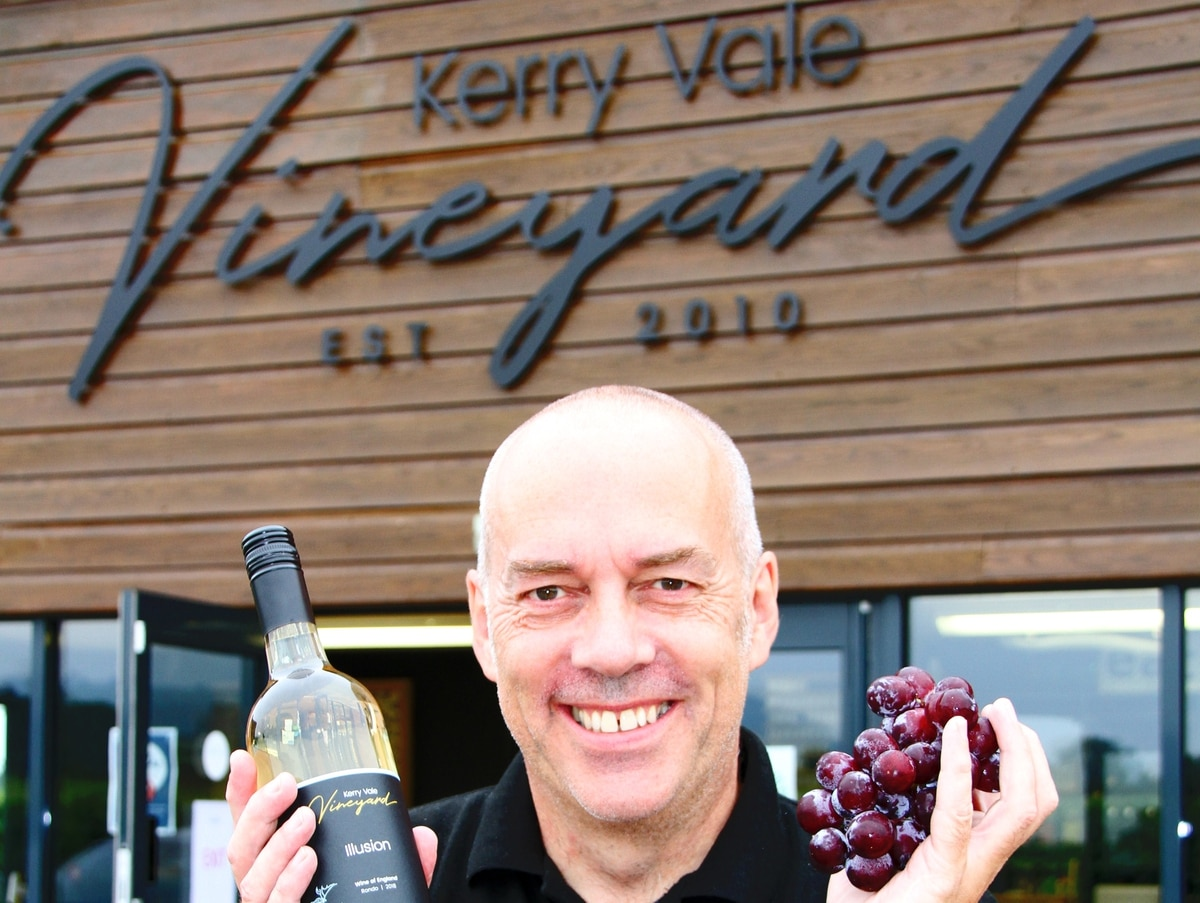 Shropshire Vineyard Launches New White Wine Made From Red Grapes photo