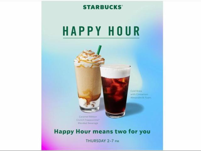 Starbucks: Bogo Drinks On Thursday, Aug. 20 From 2-7 Pm photo