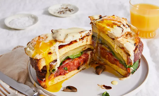 8-Layer Breakfast Bun Made With French Toast photo