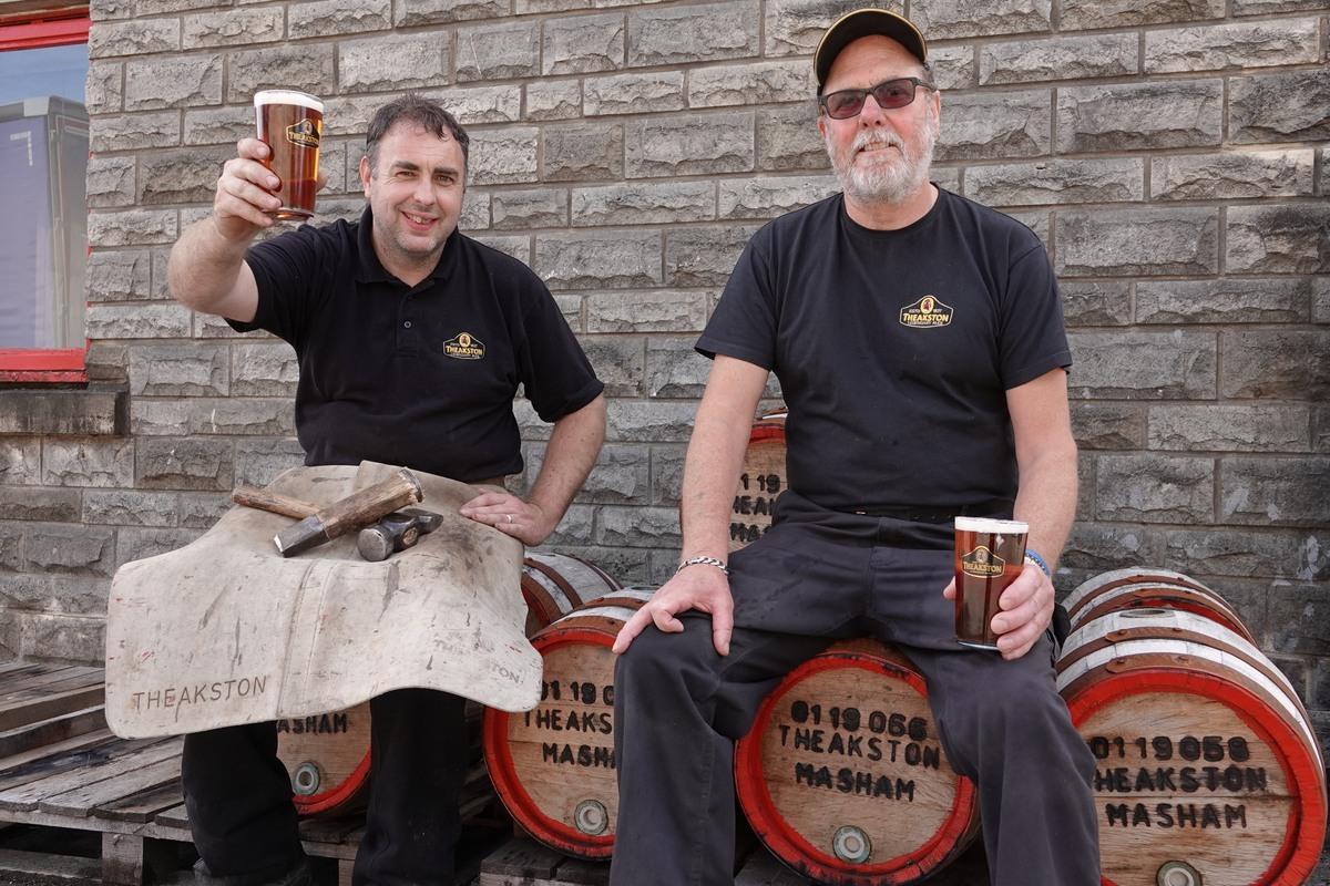 Theakston Duo Celebrates 60 Years' Service At Brewery • Beer Today photo