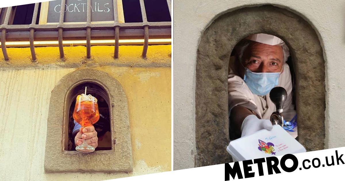 Coronavirus Pandemic Brings Back 'wine Windows' That Were Used During The Plague photo