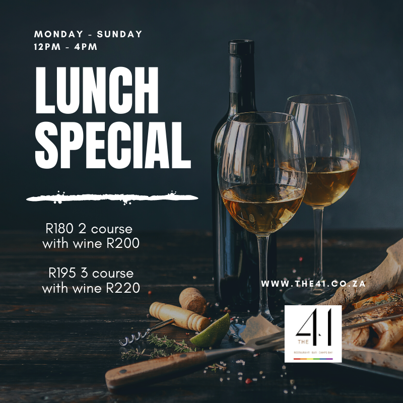 Two course lunch special with wine photo