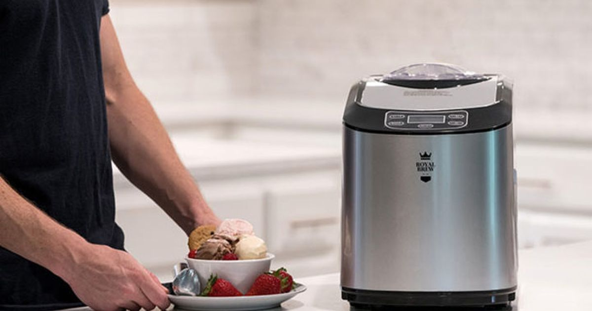 This Ice Cream Maker Does All The Churning For You — And It's On Sale photo