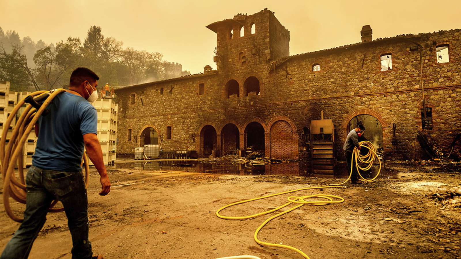 'the Wine Was Destroyed': Parts Of Famed Castello Di Amorosa Winery Destroyed In Glass Fire photo