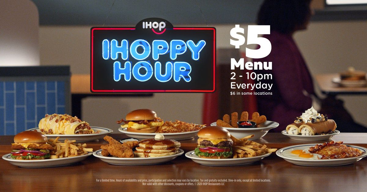 Ihop Introduces Daily 'ihoppy Hour' With $5 Value Meals photo
