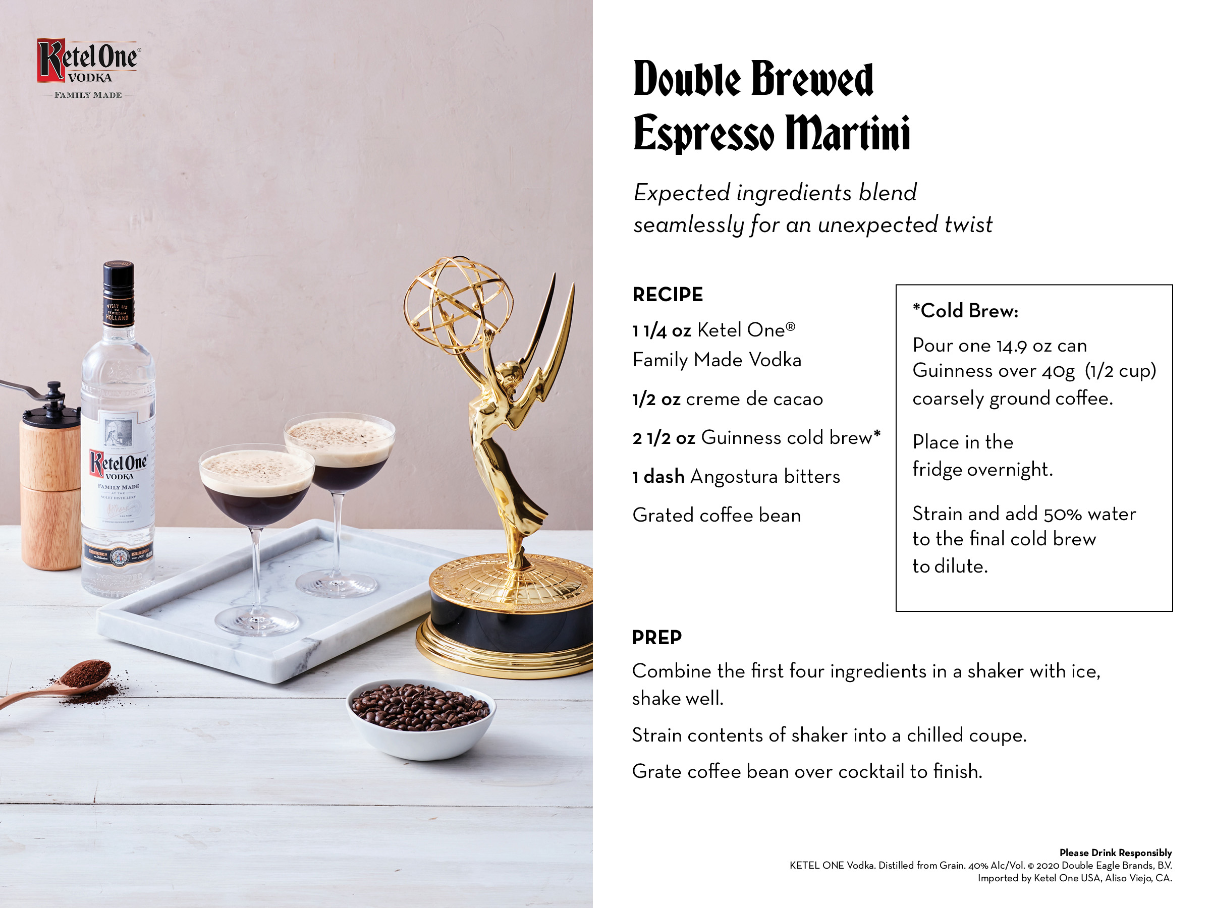 Ketel One Family Made Vodka Brings Marvelous Drinks To Your Door For The 72nd Emmy® Awards Season photo