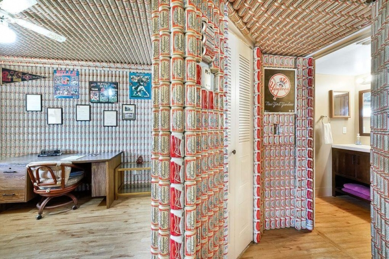Florida Condo For Sale Has Budweiser Cans Covering Walls, Ceilings photo