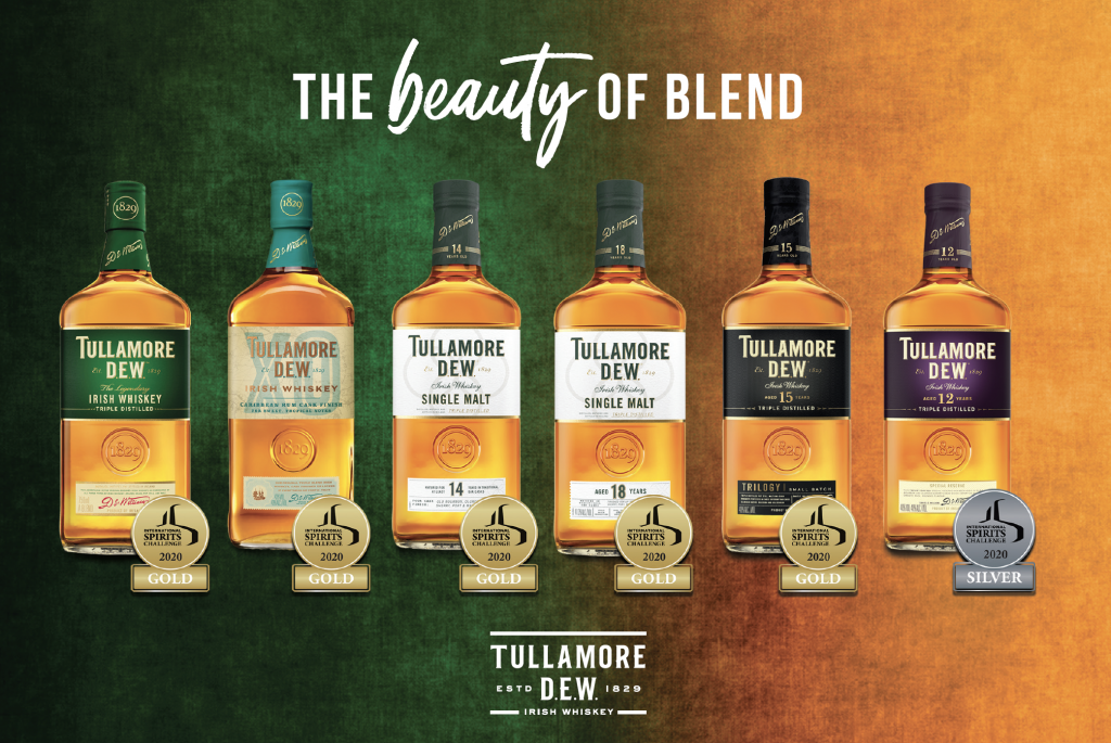 Tullamore Dew Take Home 5 Gold Medals In International Spirits Challenge photo