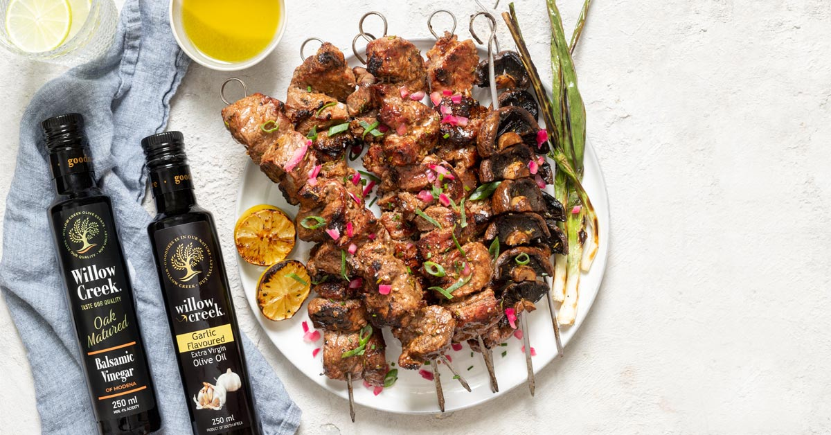 Cooking With Willow Creek: Steak & Mushroom Kebabs photo