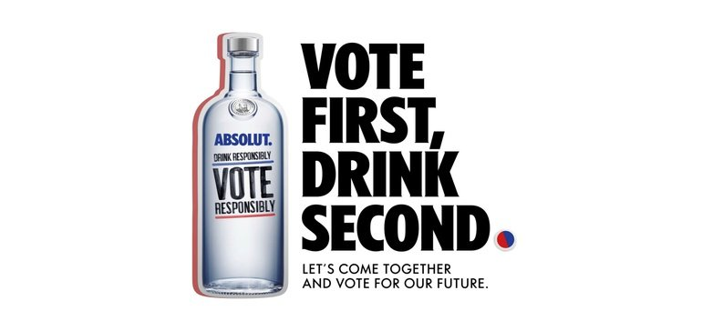 Absolut Promotes Voting With Its First Tv Ad In 3 Years photo