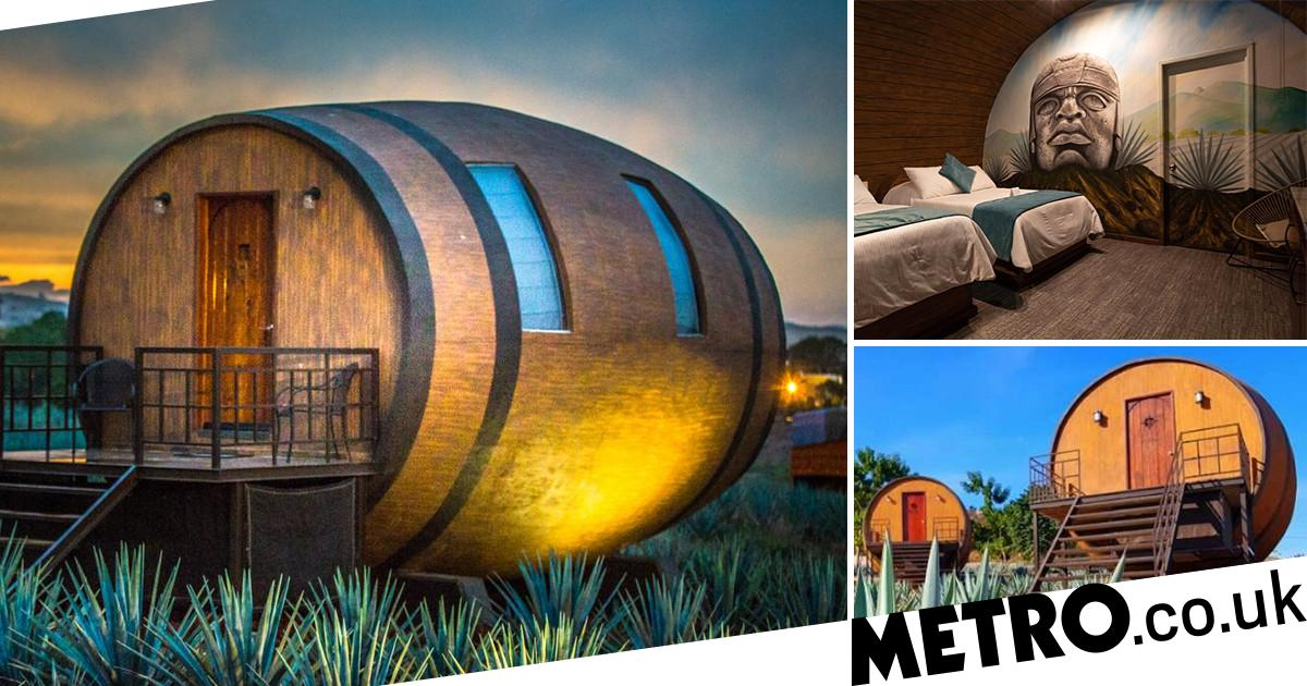 You Can Sleep In A Giant Tequila Barrel At This Mexican Hotel photo