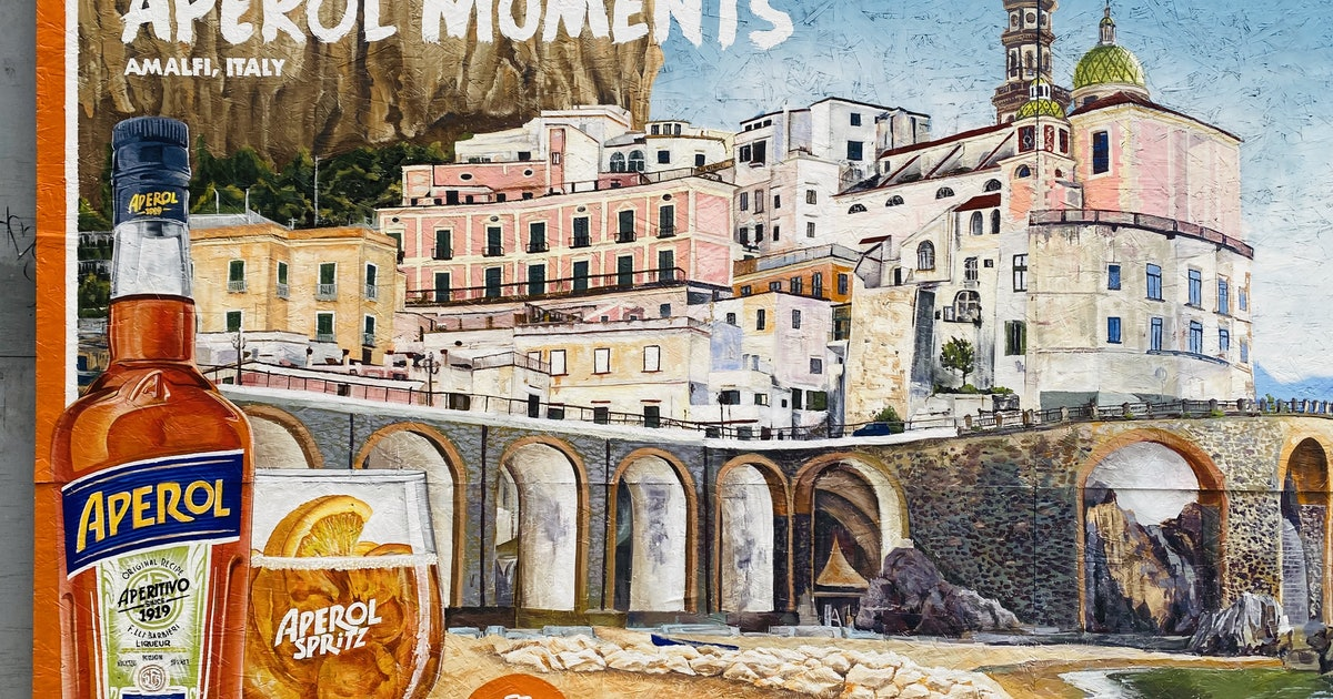 Aperol Spritz's #aperolmoments Murals Will Transport You & Your Insta To The Amalfi Coast photo