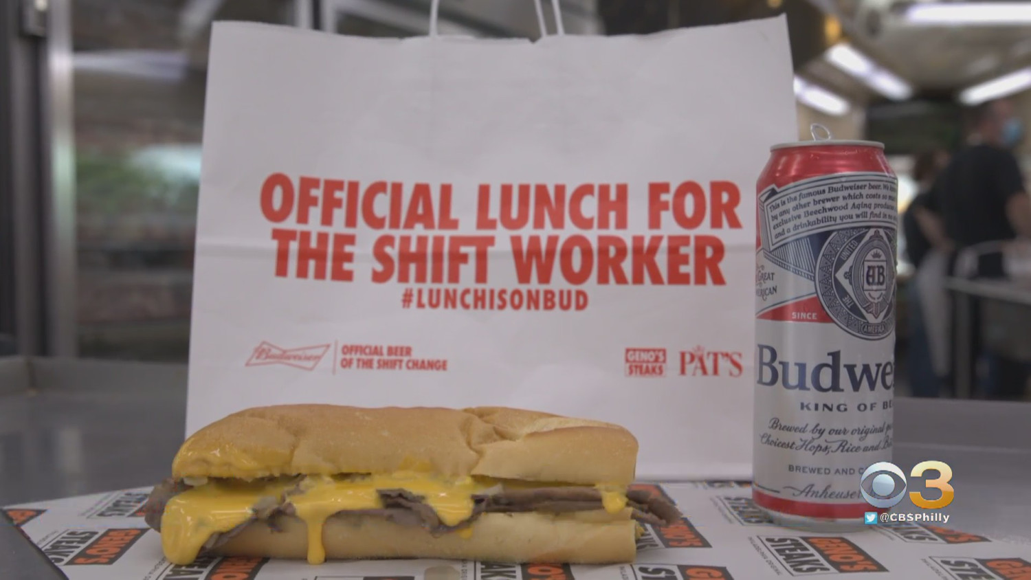 Pat's, Geno's Team Up With Budweiser To Offer Free Unique Cheesesteaks To Those Working On Labor Day photo