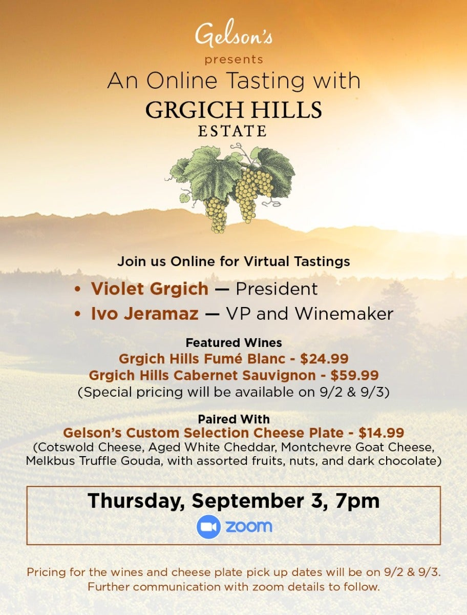 Gelson's Presents – A Virtual Tasting With Grgich Hills Estate photo