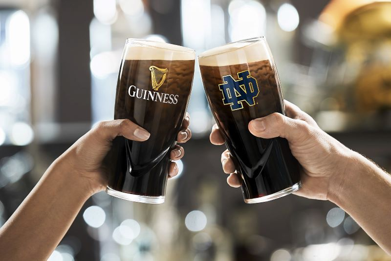 Guinness Becomes The Official Beer Of Notre Dame's Fighting Irish Alumni And Fans photo