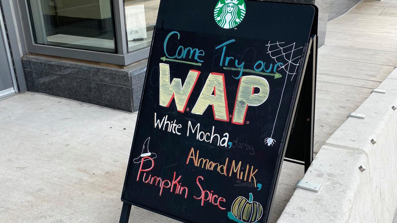 'wap' Latte At Starbucks Spices Up Fall Pumpkin Favorite photo