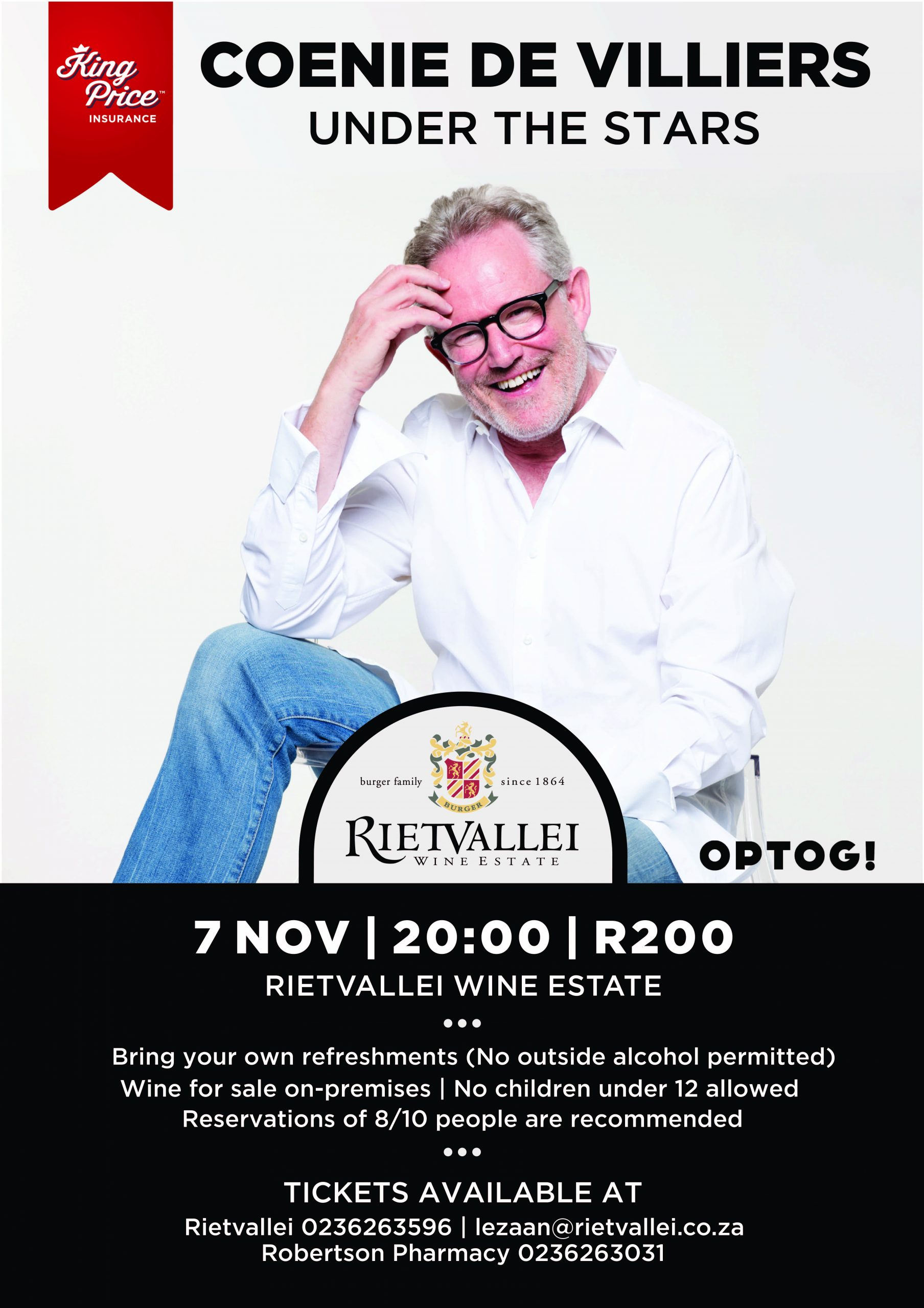 Coenie de Villiers To Perform Under The Stars At Rietvallei photo