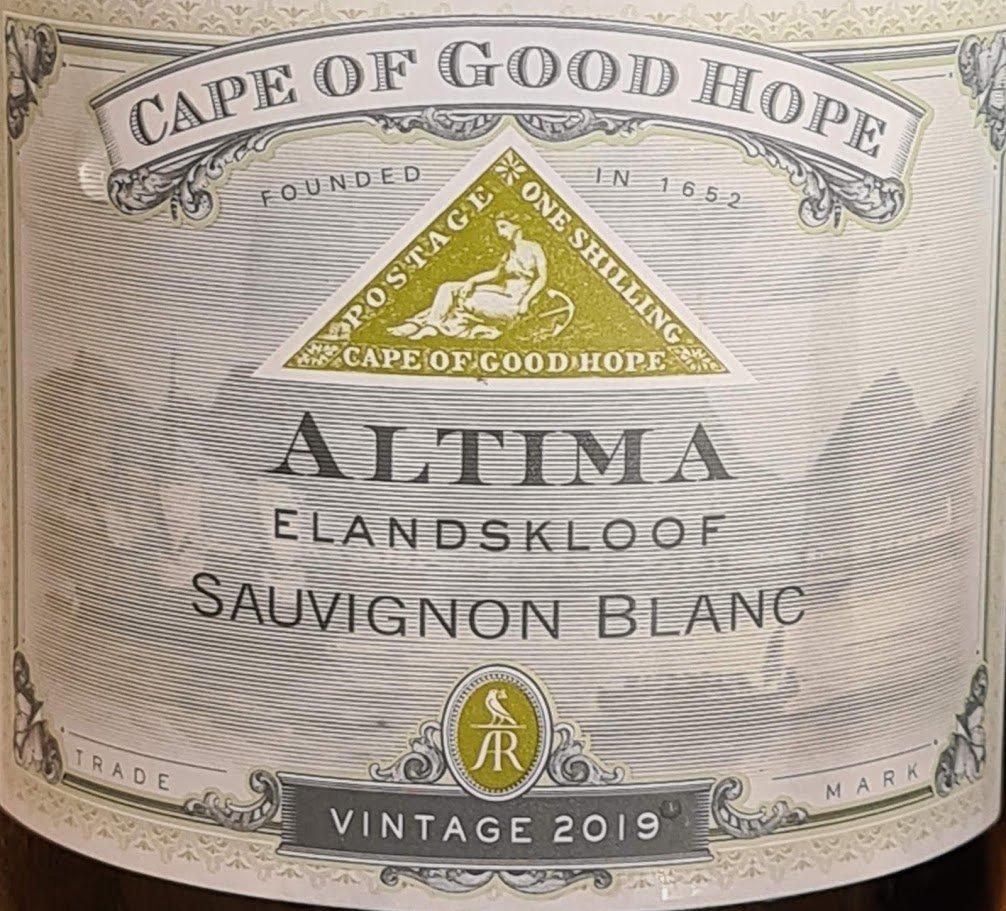 Cape Of Good Hope Altima Sauvignon Blanc 2019 photo