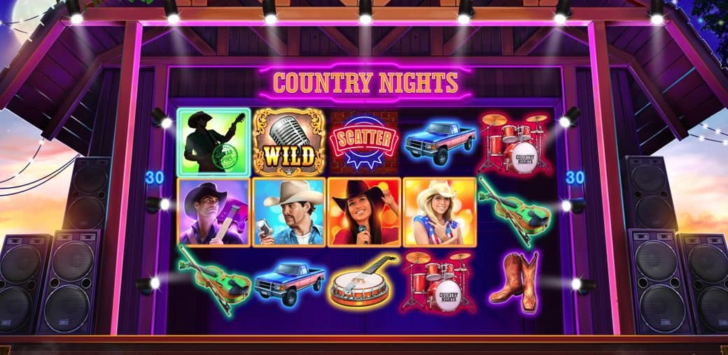 Country Nights slot main 1040x508 1 Best Drink Themed Free Online Slots