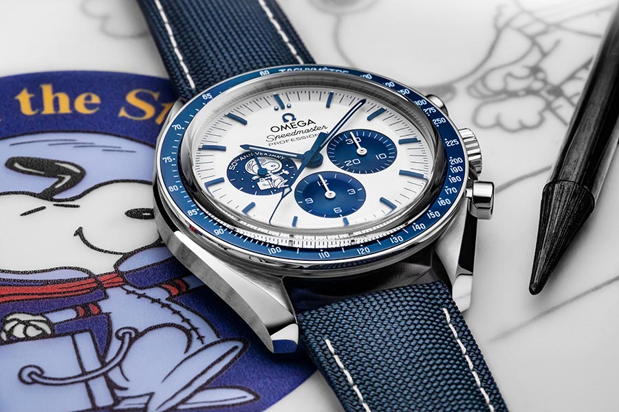 "Omega Launches The Speedmaster ""silver Snoopy Award"" 50th Anniversary photo"