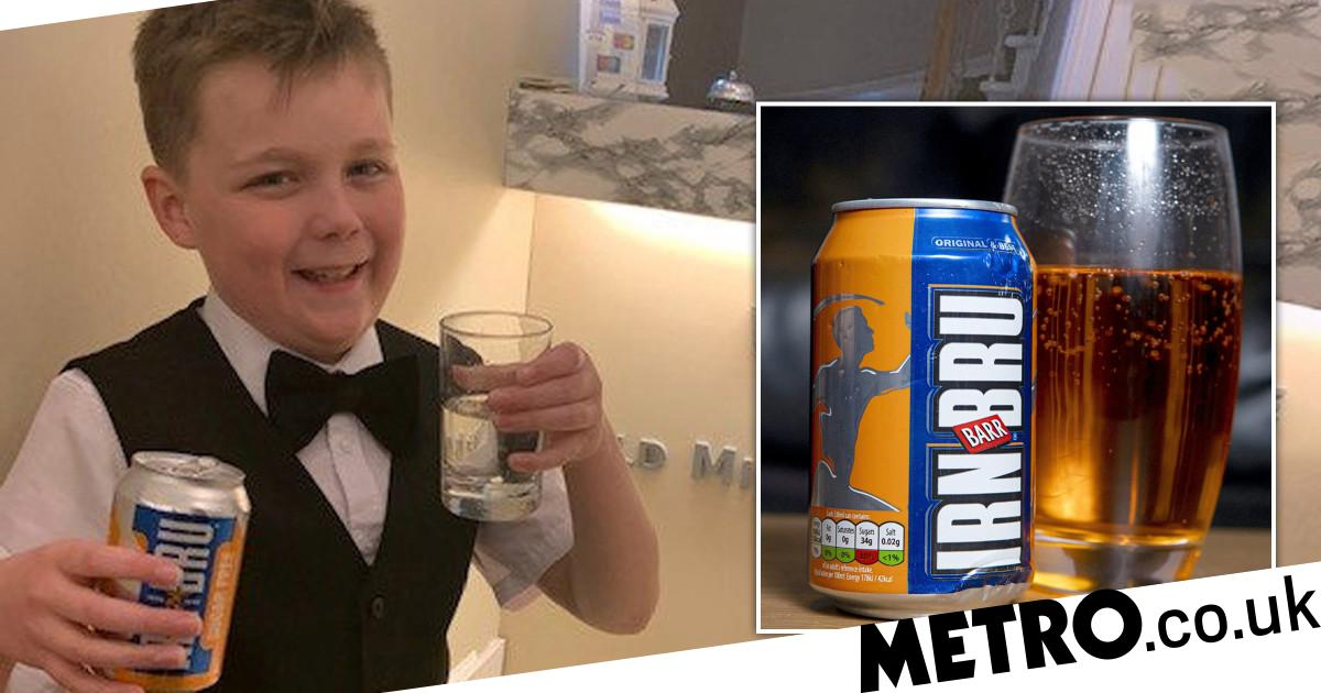Schoolboy Stunned To Find 'one-in-million' Irn Bru That's Completely Clear photo
